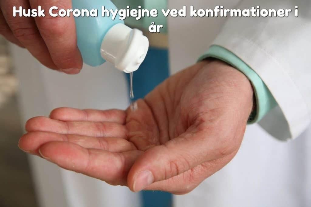 Husk Corona hygiejne ved konfirmationer i år